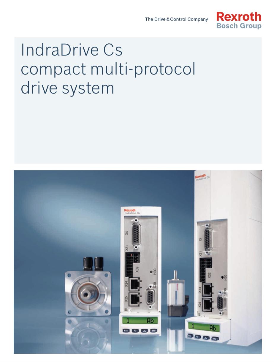 Catálogo IndraDrive Cs